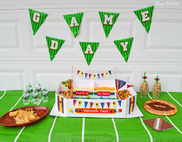 game day party tablescape