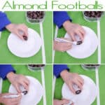 college of how to make football almonds