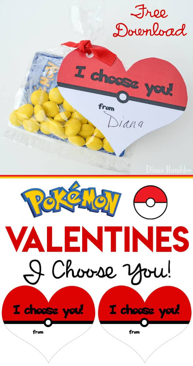 picture about Pokemon Valentine Cards Printable identified as Absolutely free Middle Fashioned Pokémon Valentine Playing cards Printable
