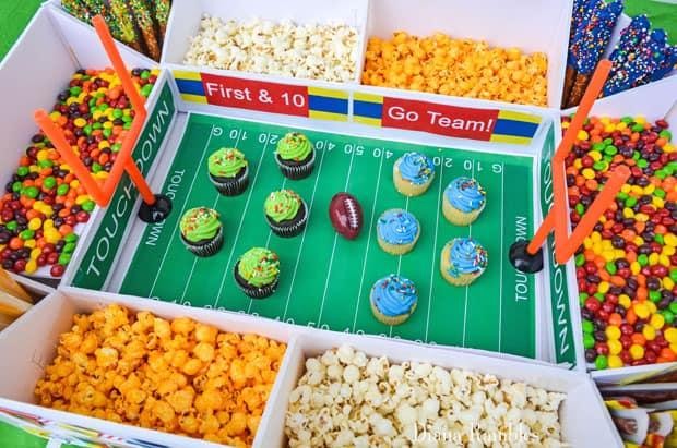 close up of a football snack stadium