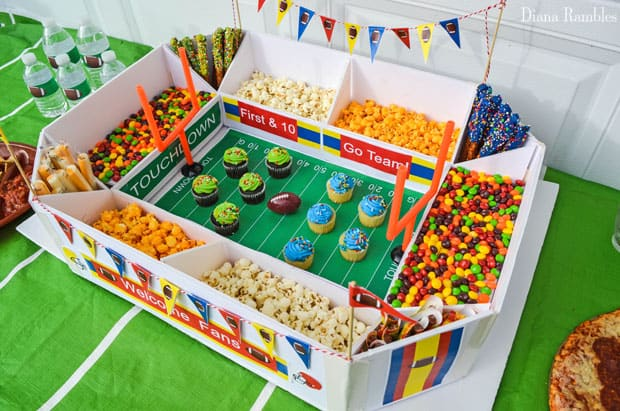 football party food tablescape