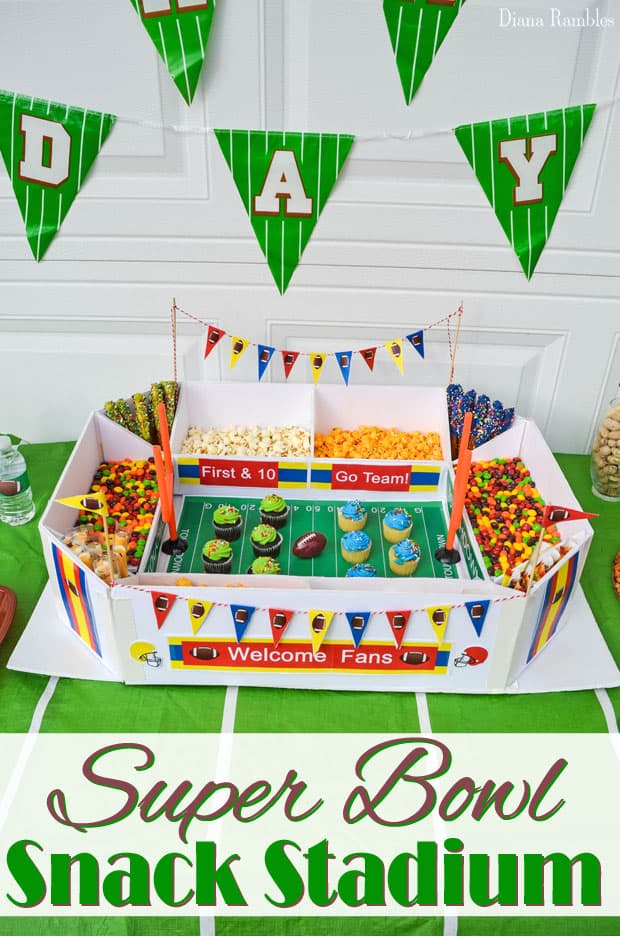 How to Create a Super Bowl Snack Stadium - Create this Super Bowl Snack Stadium for your Super Bowl Party. It's easy to make and fill with your favorite snacks. Impress your friends!
