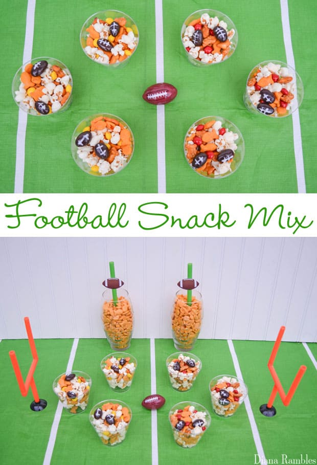 My Favorite Team Snack Mix for Football Party - Make a sweet and salty snack mix with this favorite team snack mix. It's hands-on fun for kids of all ages. It's the best snack mix for your football party.
