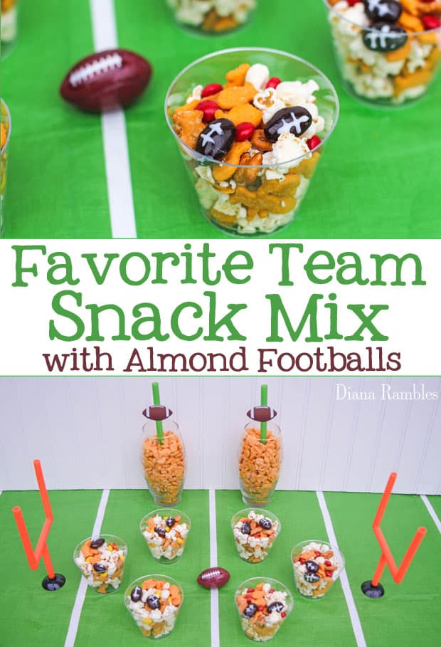 collage of football party mix with words