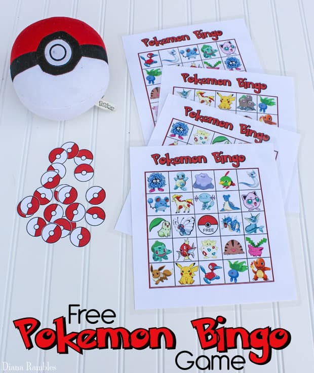 Pokemon Bingo Game Free Printable - Do your kids love Pokemon? Download and print this free Pokemon Bingo game for them to play. It's perfect for a Pokemon Birthday Party.