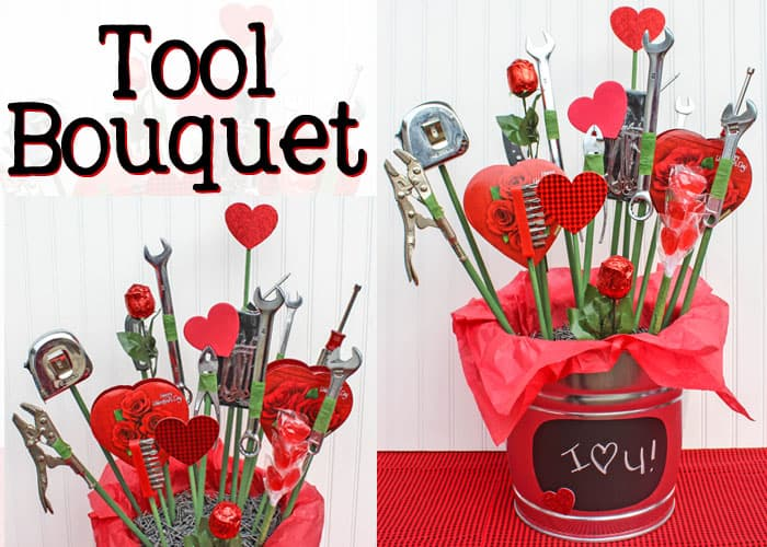collage of a tool boquet