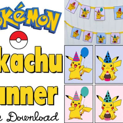 Pikachu Party Banner Printable