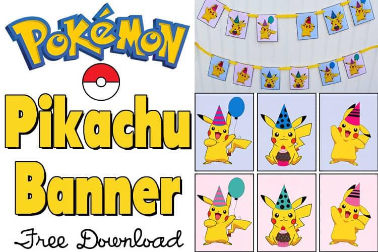 Free Pikachu Party Banner Printable for a Pokemon Party