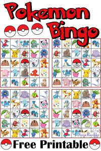 Pokemon Bingo Game Free Game Printable Download - Do your kids love Pokémon? Download and print this free Pokemon Bingo game for them to play. It's perfect for a Pokemon Birthday Party.