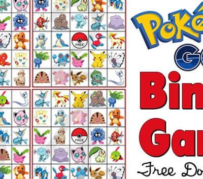 Pokemon Bingo Game Free Printable