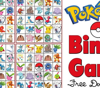 Pokemon Bingo Game Free Printable
