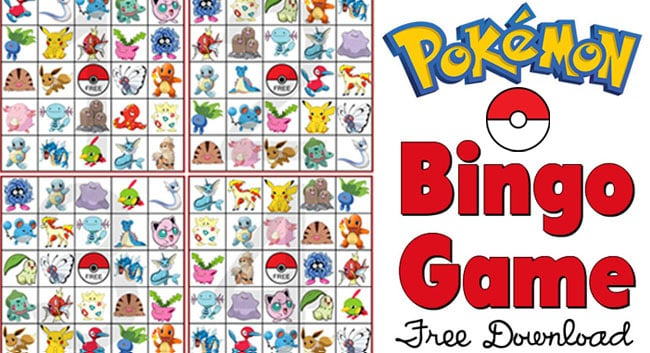 Print Out This Pokemon Bingo Game For The Pocket Monster Fan In Your Life
