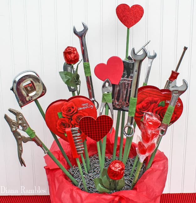 Man Candy and Tool Bouquet Tutorial for Valentine\'s Day