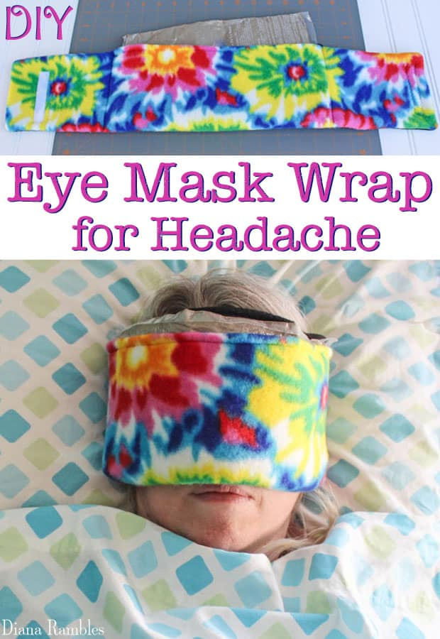 DIY Eye Mask Wrap for Headache Tutorial - Do you suffer from migraine headaches? Create this ice pack eye mask for sleeping. This sleeping eye mask gives you headache relief.