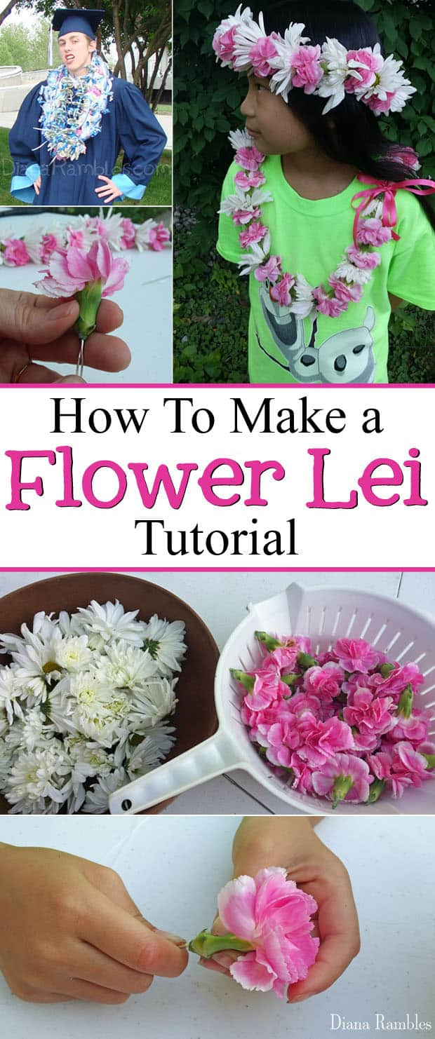 How to make a flower lei and headband craft tutorial how to make a flower lei tutorial making a flower lei is much easier than izmirmasajfo