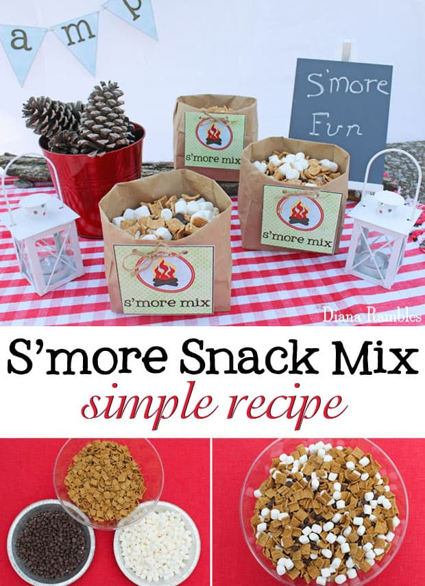S'more Snack Mix Recipe - Create this simple snack mix that tastes just like s'mores. No campfire needed!