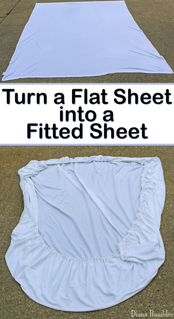 How To Sew A Fitted Sheet From A Flat Sheet Tutorial