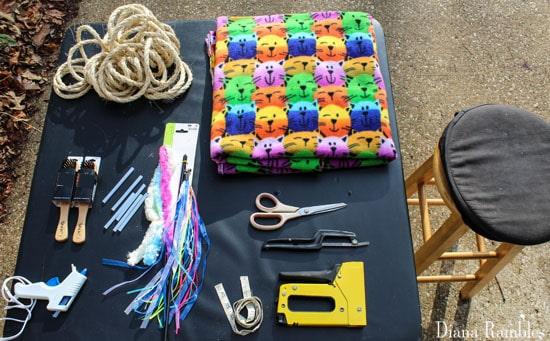 supplies for a cat condo
