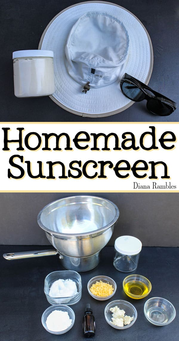 Make your own Homemade Sunscreen - Concerned about unknown chemicals in commercial lotions? Make your own Homemade Sunscreen with whole natural ingredients to protect your skin.