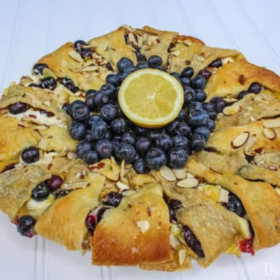 Lemon Blueberry Cream Cheese Pastry