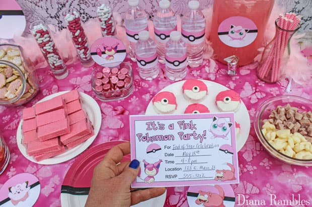 how to throw a pink pokemon party with free printables