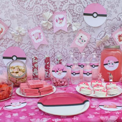 Pink Pokemon Party with Free Printables