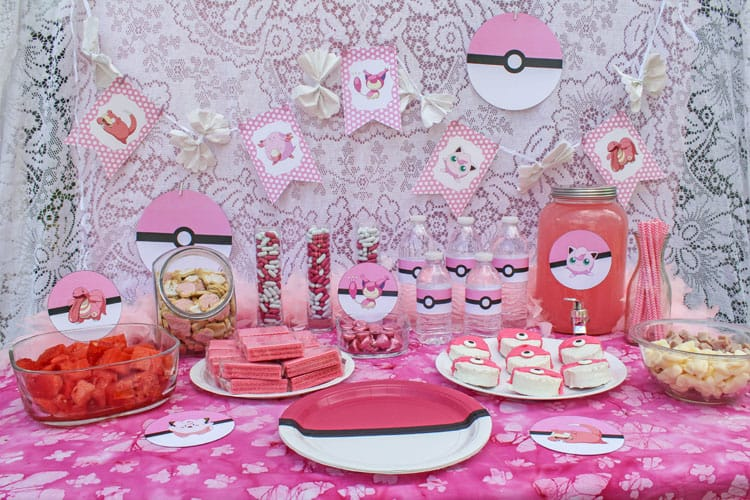 How to Throw a Pink Pokemon Party with Free Printables - photo#43