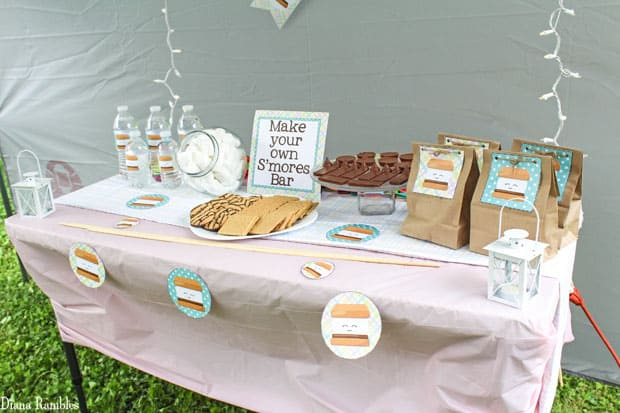 Have Your Child Celebrate With This Smores Backyard Party Complete Free Printables