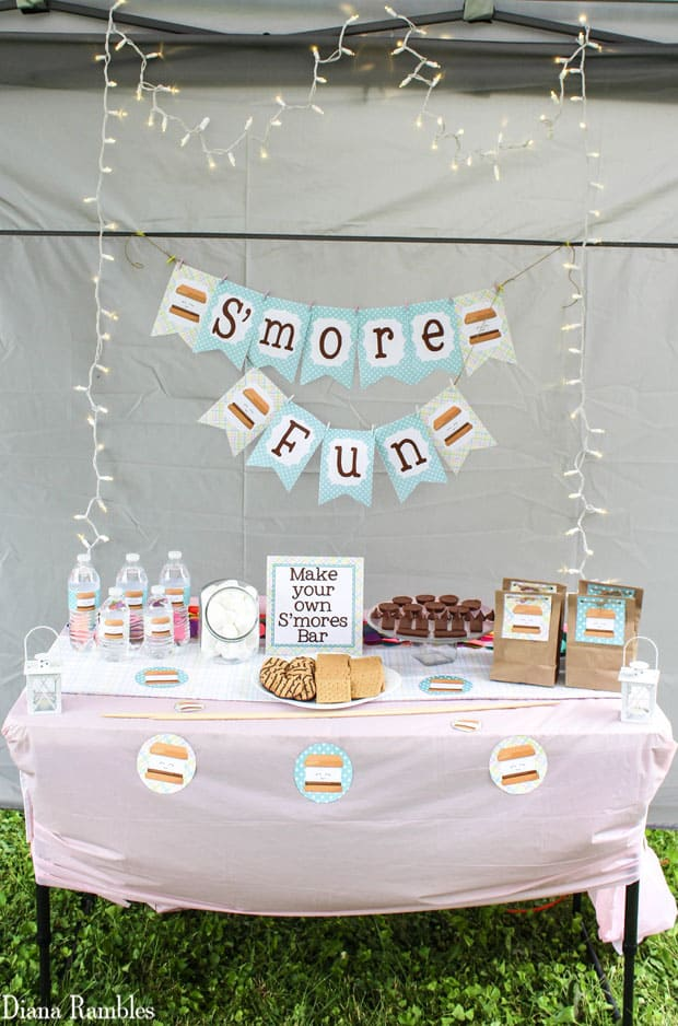 S'more Fun Backyard Party with Free Download Printables