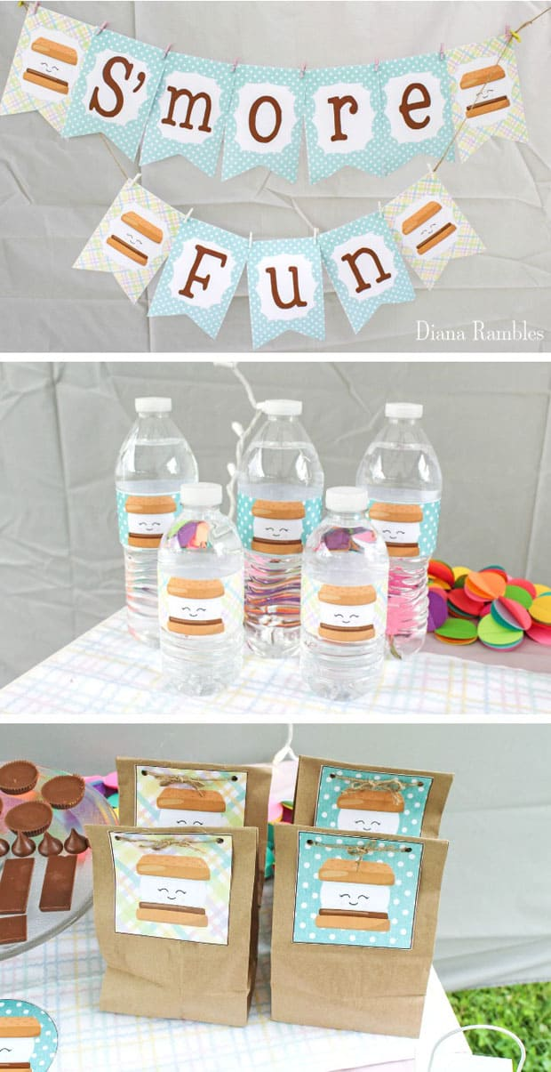 I Used The Squares On Party Bags For Girls To Take Home Small Circles Can Be Attached A Toothpick Create Fun Cupcake Topper