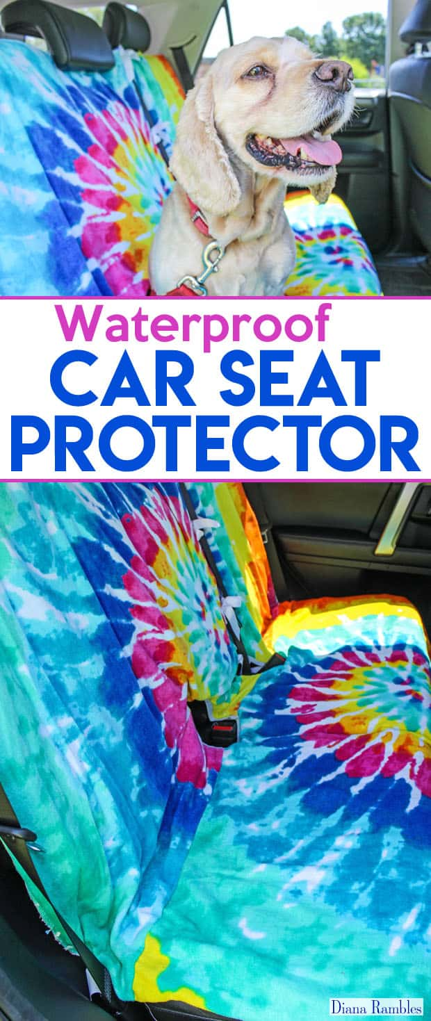 DIY Waterproof Removable Seat Covers - Need to protect your back seat from pets or kids? Make your own removable seat covers for your car. These are perfect to protect the seat from rain, dirt, or food and more! Customize with fun prints.