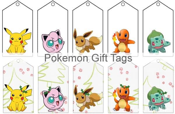 image about Pokemon Printable Images called Pokemon Present Tags Cost-free Printable for Birthdays and Holiday seasons
