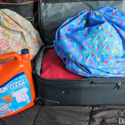 DIY Suitcase Laundry Bag
