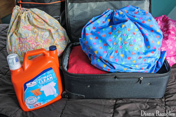 DIY Suitcase Laundry Bag