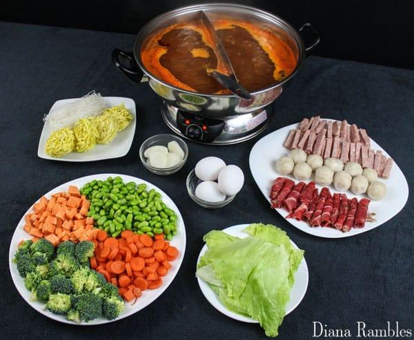 fresh hot pot ingredients