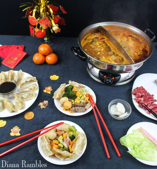 Chinese New Year meal