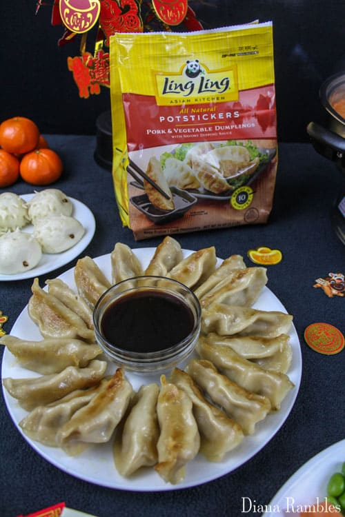 pork potstickers or dumplings