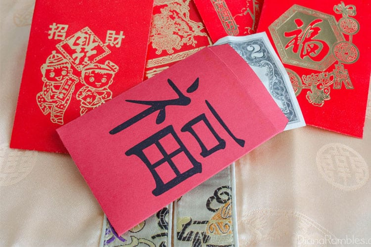Lucky Red Envelopes Free Printable For Chinese New Year