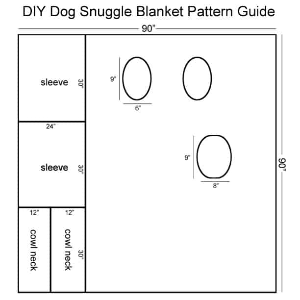 Pattern for a DIY Dog Snuggle Blanket