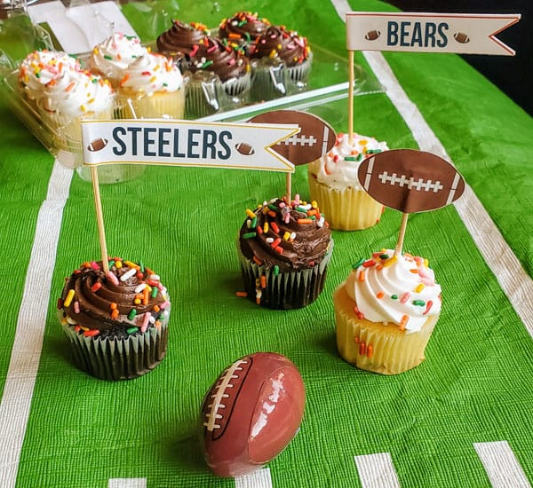 NFL Cupcake Toppers
