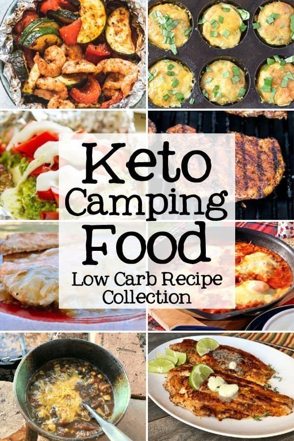 collage of Keto Camping Food