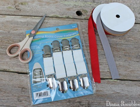 supplies for DIY suspenders