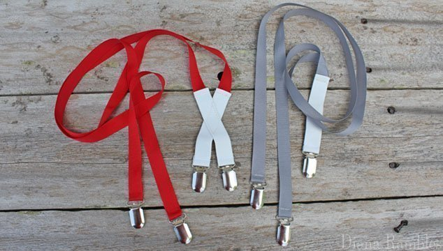 DIY Custom Suspenders with Ribbon