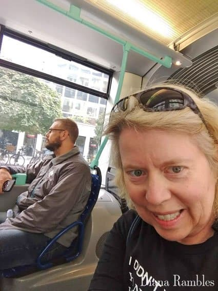 Couple on a Tram