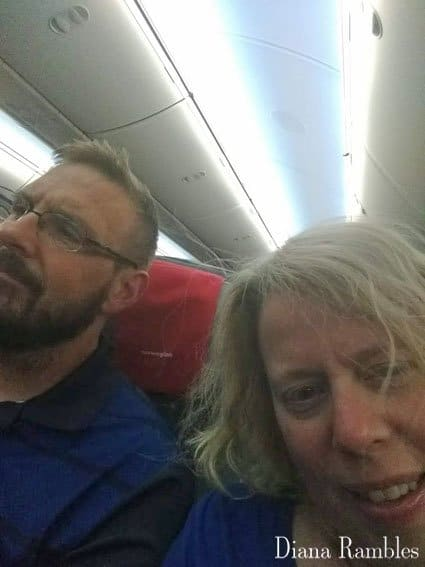 Tired Couple on a Plane