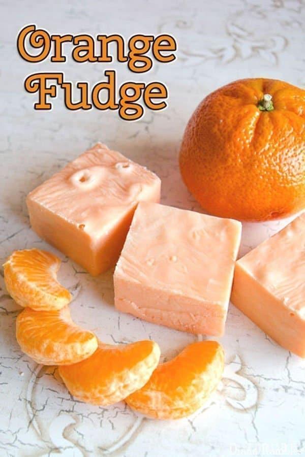 Easy Orange Microwave Fudge Recipe - Create this easy Orange Microwave Fudge in minutes. Just five simple ingredients to create an amazing melt in your mouth treat. #orange #fudge #fudgerecipe