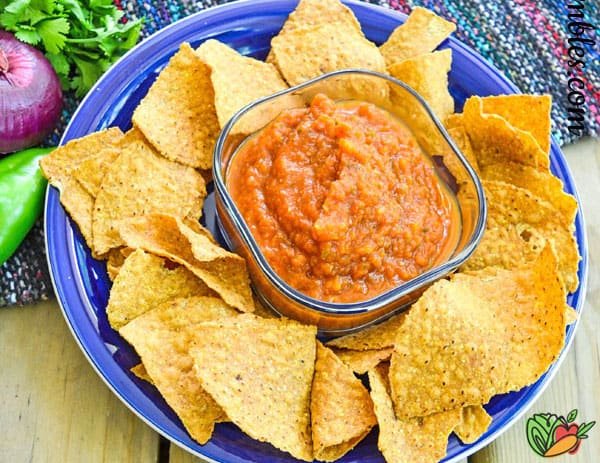 bowl of chips with salsa