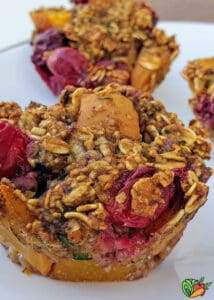 close up of cranberry fruit muffins