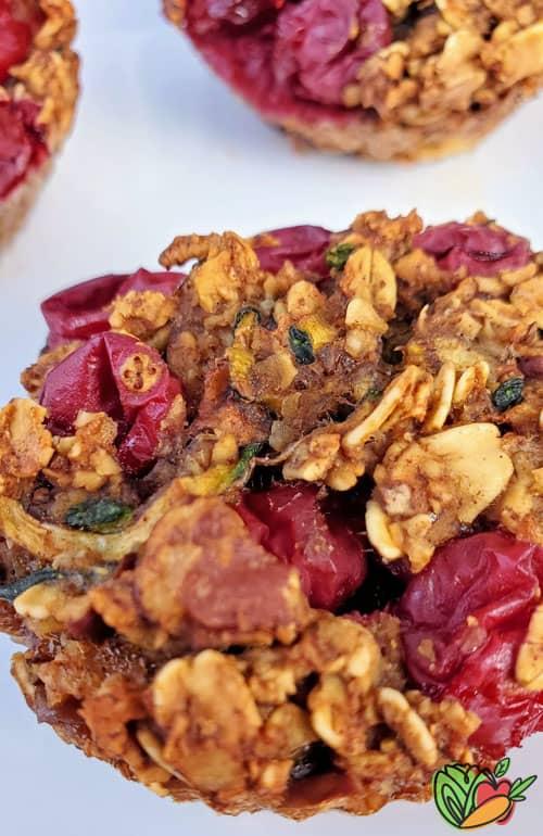 close up of a vegan muffin