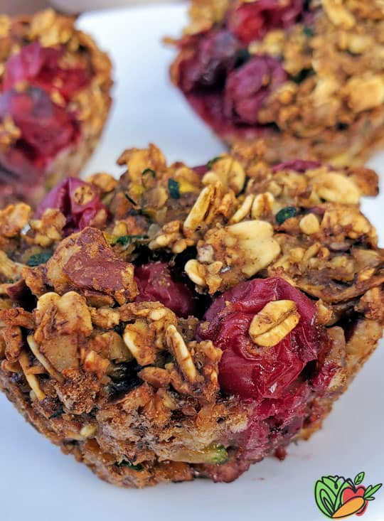 zoomed in photo of cranberry muffins